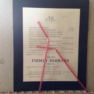 PAD. 148. Mr Firmin Bernard, Industriel Décédé à Basècles En 1945 - Décès