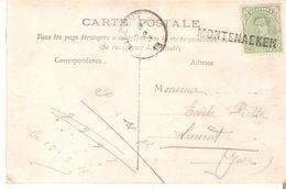 N° 137 Annulé Par GRIFFE DE FORTUNE MONTENAEKEN Vers LINCENT. RARE Et TB AMI 2 - Postmark Collection