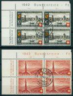 SWITZERLAND, PRO PATRIA 1942, BLo4 USED - Used Stamps