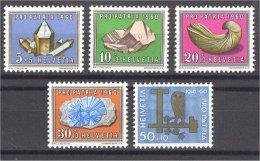 SWITZERLAND, PRO PATRIA 1960 MINERALS, MINT NEVER HINGED SET - Minéraux
