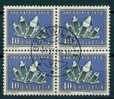 SWITZERLAND, PROPATRIA MINERALS / CRYSTAL 40  CENTIMES 1958 BLo4 USED - Minéraux