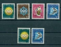 SWITZERLAND WINTER OLYMPIC GAMES 1948, BOTH GUM TYPES - Winter 1948: St. Moritz