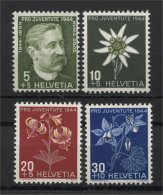 SWITZERLAND, PRO JUVENTUTE, 1944, NEVER HINGED SET - Non Classés