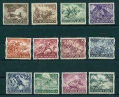 GERMANY, REICH, WAR SCENES MNH SET 1943 - Nuovi