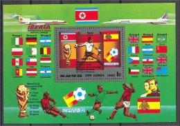 """NORTH KOREA, SOUVENIR SHEET """"""""ESPANA 1982"""""""" SOCCER, MNH - 1982 – Espagne"""