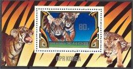 NORTH KOREA, TIGERS, SOUVENIR SHEET 1982 NH - Raubkatzen