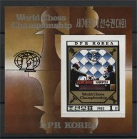 NORTH KOREA, CHESS 1980, IMPERFORATED SHEETLET NH - Corée Du Nord