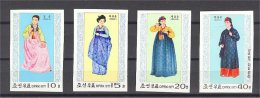 NORTH KOREA, COSTUMES 1977, IMPERFORATED, NEVER HINGED - Corée Du Nord