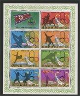 NORTH KOREA, MINISHEET OLYMPIC GAMES MONTREAL 1976 - Corée Du Nord