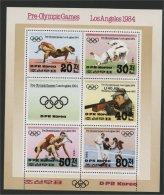 NORTH KOREA, OLYMPIC GAMES 1984 SOUVENIR SHEET - Corée Du Nord