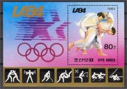 NORTH KOREA, OLYMPIC GAMES 1984,  JUDO SHEETLET - Corée Du Nord