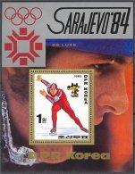 NORTH KOREA, OLYMPICS 1984 SPEED SKATING MNH S.S. - Corée Du Nord