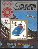 NORTH KOREA, OLYMPICS 1984, BOB, S.S. IMPERF. NH - Corée Du Nord