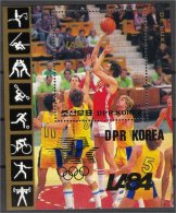 NORTH KOREA, Olympics 1984, S.S. BASKETBALL, NH **! - Corée Du Nord