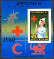 NORTH KOREA, RED CROSS 1980 S.S. IMPERFORATED, NH! - Corée Du Nord