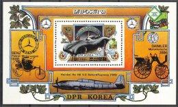 NORTH KOREA, TRANSPORTS SOUVENIR SHEET 1981 MNH - Corée Du Nord