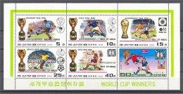 NORTH KOREA, WORLD CUP WINNERS, MINISHEET NEVER - Corée Du Nord