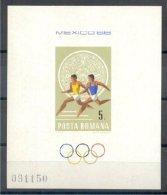 ROMANIA, SHEETLET OLYMPIC GAMES MEXICO 1968, NH - Zomer 1968: Mexico-City