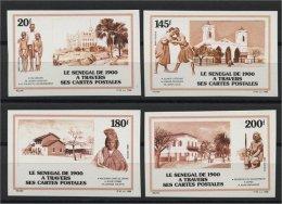 SENEGAL,SET,  POSTCARD OF 1900, 1988, IMPERFORATED, MNH - Sénégal (1960-...)