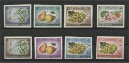 AFGHANISTAN, FLOWERS & FRUITS, MNH SET 1962 IMPERFORATED - Afghanistan