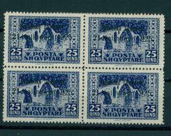 ALBANIA, 25 QUINDAR REPUBLIC PROVISIONAL 1925, BLo4 NH - Albanie