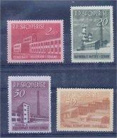 "ALBANIA, DEFINITVES """"INDUSTRIAL BUILDINGS"""" 1963,  MNH SET! - Albanie"