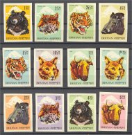 BHUTAN - ANIMALS - IMPERFORATED SET FROM 1966 MNH - Bhoutan