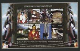 BHUTAN, DRUBTHOP THANGTONG GYALPO SOUVENIR SHEET + MINISHEET, MNH - Bhoutan