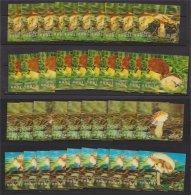 BHUTAN, HOLOGRAM/3- D STAMP MUSHROOMS FROM 1973 PER10x - Bhoutan