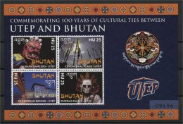 BHUTAN, UTEP AND BHUTAN SS AND MINISHEET 2014 - Bhután