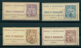 FRANCE, 4 DIFFERENT TELEPHONE STAMPS 1900-06 USED - Telegraaf-en Telefoonzegels
