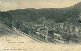 AK Calw, Bahnhof Mit Villenviertel, O 1904, Rechts Aktenlochung, Heftzweckenlöcher, Einriss, Schlechte Erhaltung (18867) - Calw