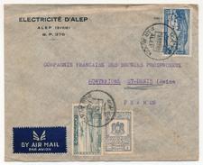 SYRIE - Enveloppe Affranchissement Composé 1949 Depuis Alep - Siria