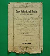 D-IT Regno D'Italia FANANO MODENA 1911 CESSIONE DI RAGIONI EREDITARIE - Documents Historiques