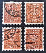 SERIE COURANTE 1928 - OBLITERES - YT 348 - VARIETES DE TEINTES ET D'OBLITERATIONS - Gebraucht