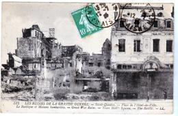 Saint Quentin 02 Ruines De La Grande Guerre Basilique Maisons Bombardée Voyagée écrite Bon état - Saint Quentin
