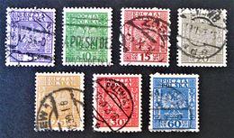 SERIE COURANTE 1928 - OBLITERES - YT 356/62 - VARIETES DE TEINTES ET D'OBLITERATIONS - Gebraucht
