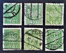SERIE COURANTE 1928 - OBLITERES - YT 357 - VARIETES DE TEINTES ET D'OBLITERATIONS - 1919-1939 Republik