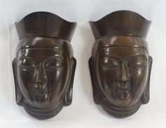 2 Metallic Masks - Asian Art
