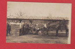 Carte Photo  --  Campement De Soldats Allemands Dans Les Flandres --1918 - België