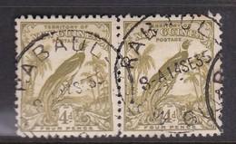 New Guinea SG 181 1931 Raggiana Bird No Date 4d Olive-green Pair Used - Papua New Guinea
