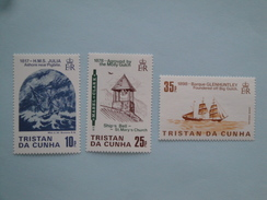 1985 Tristan Da Cunha Yvert 366/8 ** Bateaux Ships Scott Xx  Michel 381/3  SG 386/8 Shipwrecks - Tristan Da Cunha