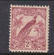 New Guinea SG 186 1931 Raggiana Bird No Date Two Shillings Dull Lake Mint Hinged - Papua New Guinea