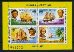 ROUMANIE ( EUROPA 1992 ) : Y&T N°  220  BLOC   NEUF   SANS  TRACE  DE  CHARNIERE , A  SAISIR . - Europa-CEPT
