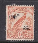New Guinea SG 190 1932 Raggiana Bird No Date Air Mail Half Penny Orange Mint Hinged - Papua New Guinea