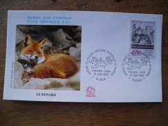 FDC 1988 N° 1594 Le Renard, Fox, Buffon - FDC