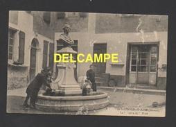 DF / 34 HÉRAULT / SAINT-GERVAIS-SUR-MARE / LA FONTAINE DE LA PLACE / ANIMÉE / CIRCULÉE EN 1915 - France