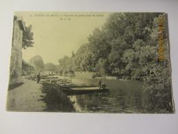 Cpa POISSY (78)  Vue Sur Le Petit Bras De Seine - Poissy