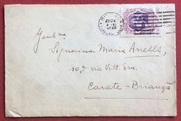 GALILEO 50 C.  SU BUSTA DA MILANO PER  MARIA ANELLI CARATE BRIANZA IN DATA 4/11/42 - 1900-44 Vittorio Emanuele III