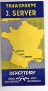 (Bordeaux) Répertoire Des Destinations TRANSPORTS SERVER  (PPP5339) - Europe